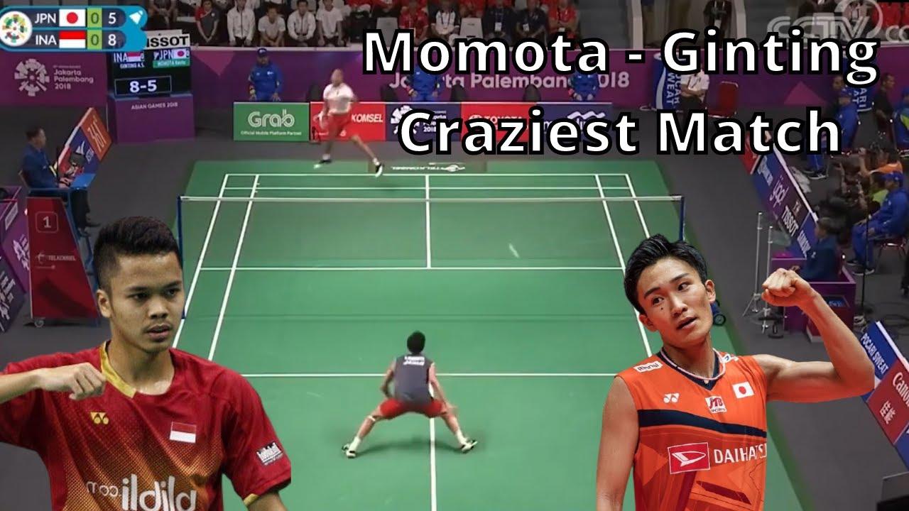 Anthony Ginting Vs Kento Momota - Craziest Badminton Match