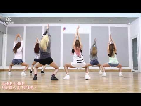 【中字+空耳】Hello Venus - Wiggle Wiggle (Mirror Dance.)