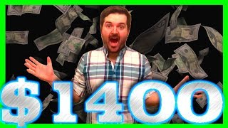 MY VERY LAST SPIN! I Had $10! Minutes Later I HAD OVER $1400! How to Win Big on Slots W/ SDGuy1234