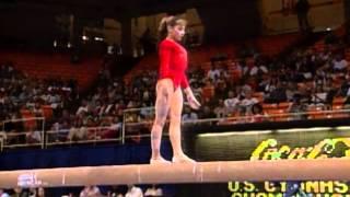 Dominique Moceanu - Balance Beam - 1996 U.S Gymnastics Championships - Women