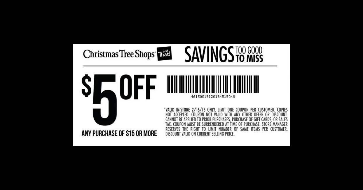 christmas tree shop printable coupons - Christmas Tree Shop Printable Coupon
