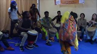 Wuntanara African drumming circle @ Africa on the Square, London 2017