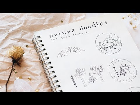 Nature Doodles For Your Bujo Youtube