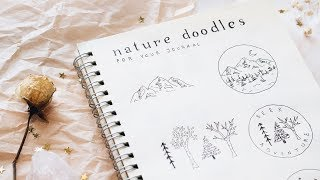 nature doodles for your bujo