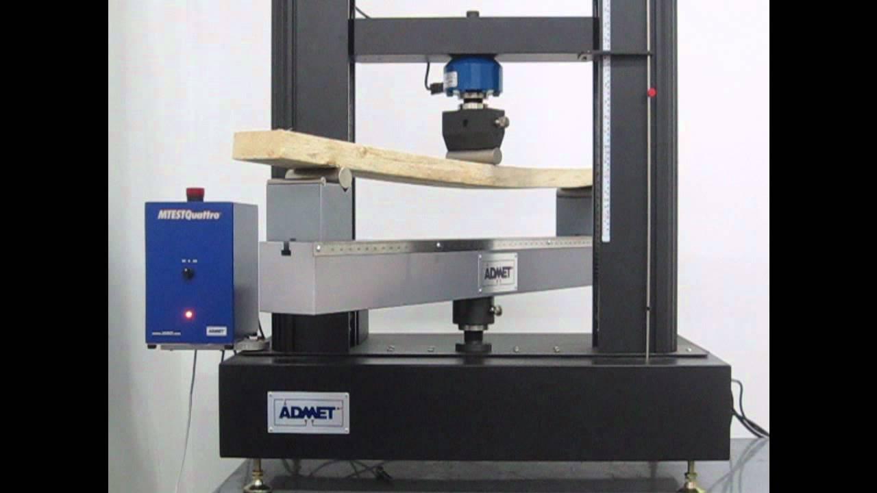 Wood Bending Strength Test Youtube
