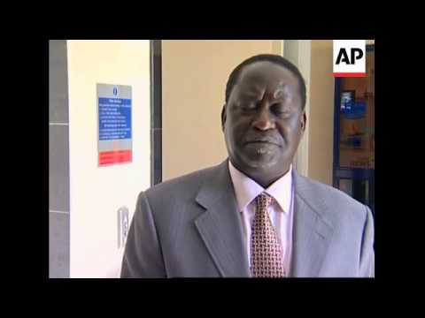 Opposition leader optimistic that agreement with Kibaki will succeed