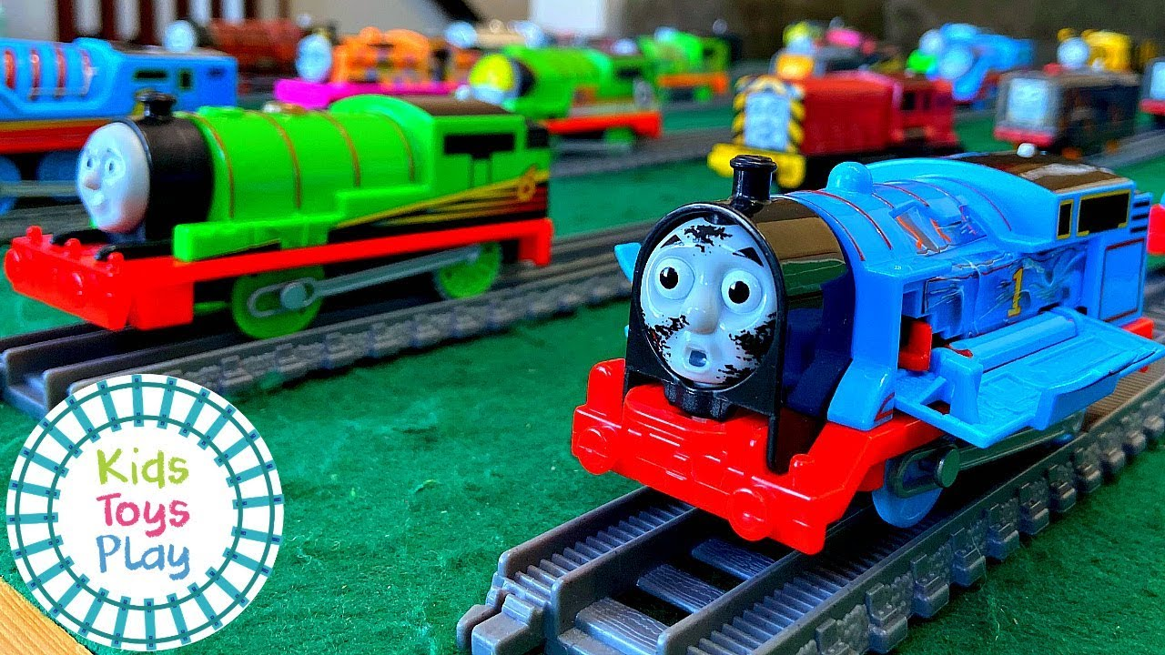 Thomas and Friends Trackmaster and Tomy Toy Train Collection