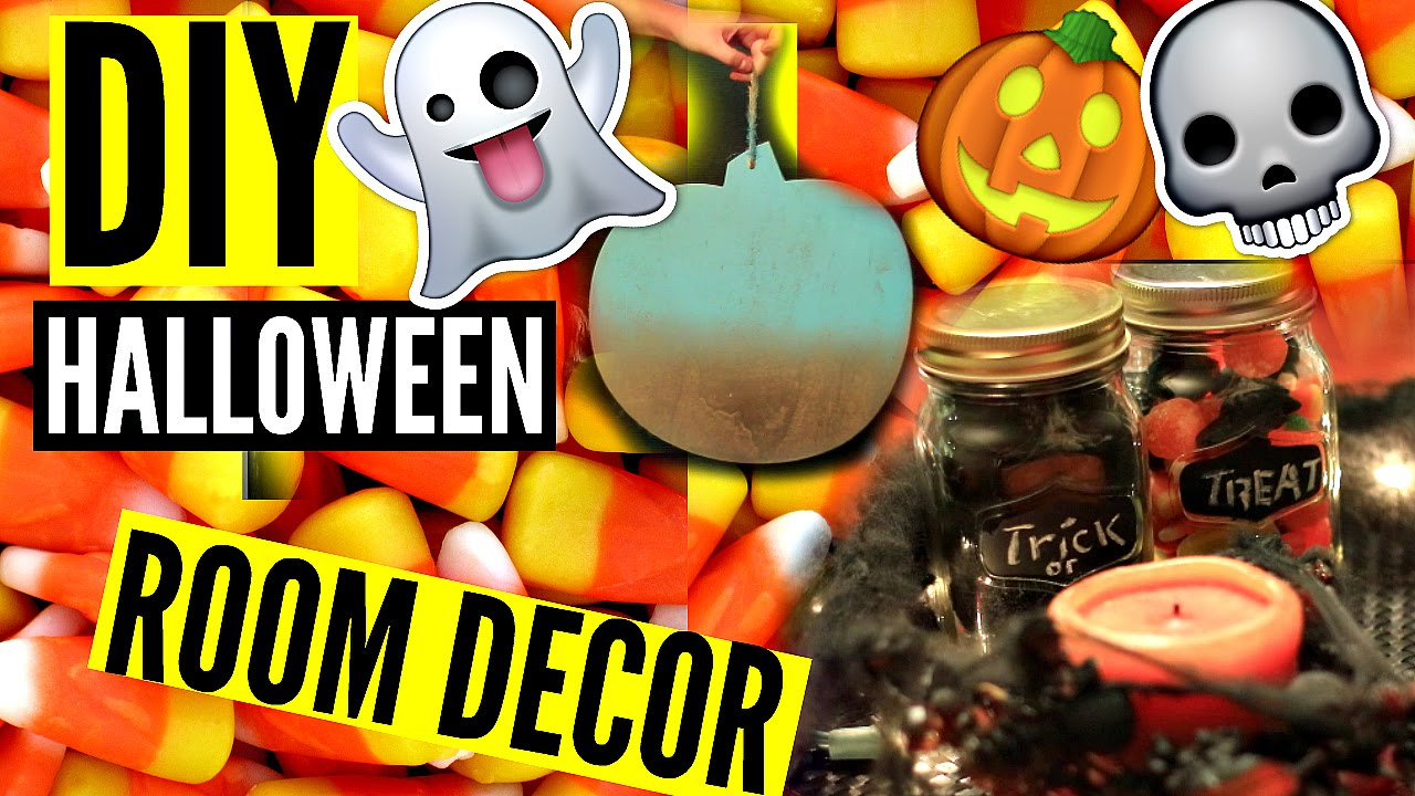 diy halloween room decor cheap easy diy decorations youtube - Halloween Room Decorations