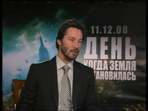 2008 Keanu Reeves in Moscow, The Day the Earth Stood Still, Interview