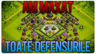 Am maxat TOATE Defensurile | Clash of Clans Romania
