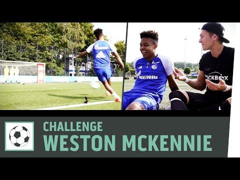 Zielschießen-Challenge vs. Weston McKennie  FC Schalke 04   Fußball-Challenge   Kickbox
