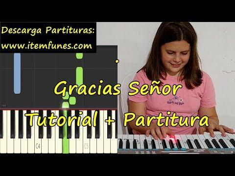 GRACIAS SEÑOR Piano Tutorial Cover Facil + Partitura PDF Sheet Music Easy Midi thumbnail