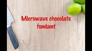 How to cook - Microwave chocolate fondant