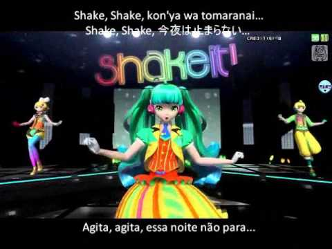 Project Diva Arcade - Shake It! - Legendado pt/br Miku Rin Len