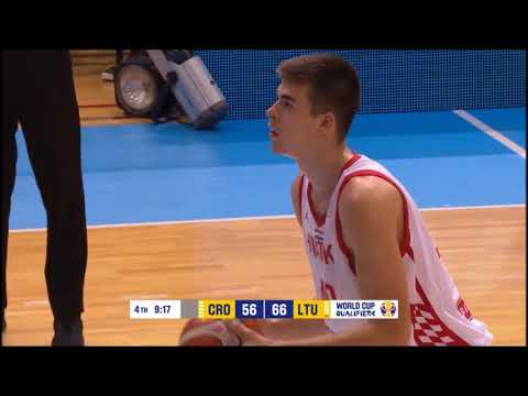 Ivica Zubac Full Highlights 14.09.2018 Croatia vs Lithuania- 11 Pts and 4 Rebs! | UF44 Highlights