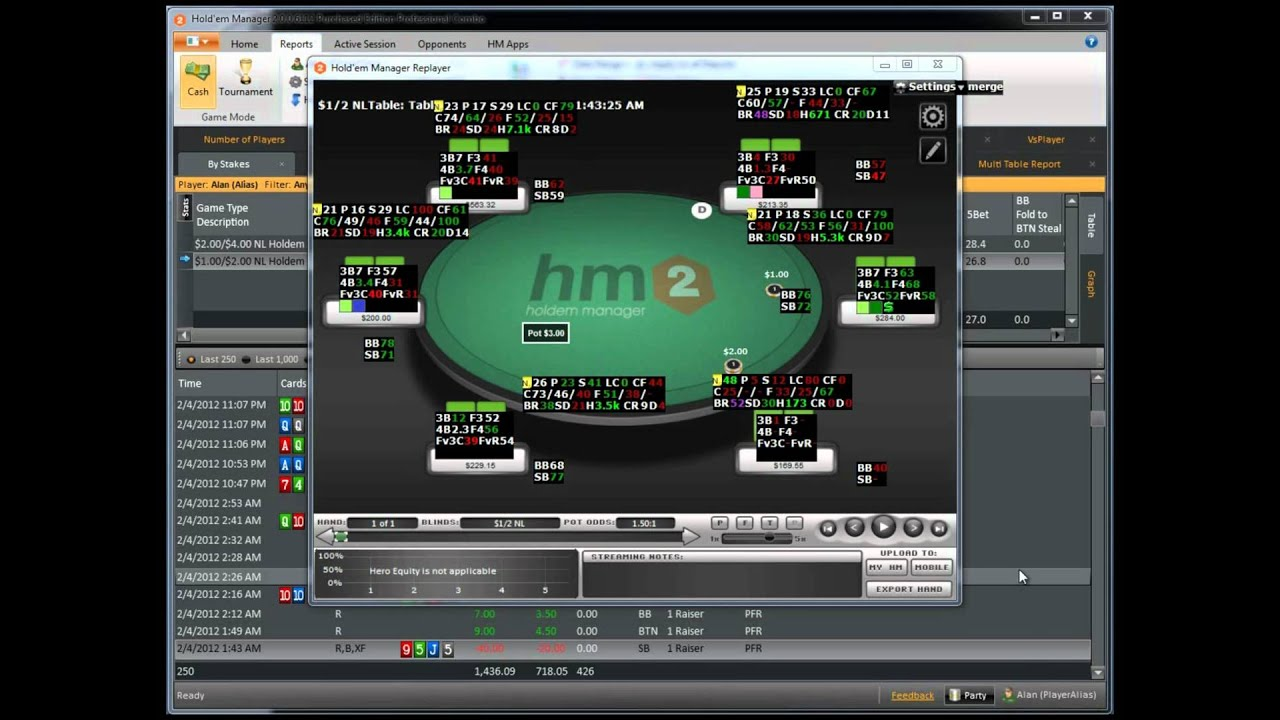 Holdem manager two computers