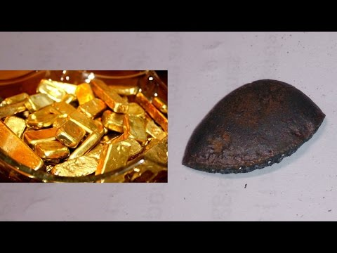 Gold Recovery Bullion Bar Melted Drop Scrap Plated Computer Pins Scam