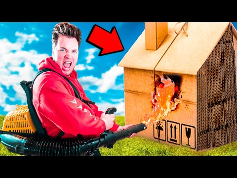 100 Layers of Box Fort vs Tape Challenge!