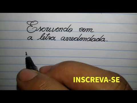 COMO ESCREVER COM UMA LETRA REDONDA E BONITA