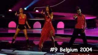 My Top 100 - Eurovision (2000 - 2010) PART 6 - places 16-1
