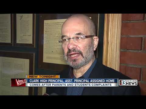 Clark High School Principal, Assistant Principal 'assigned To Home'