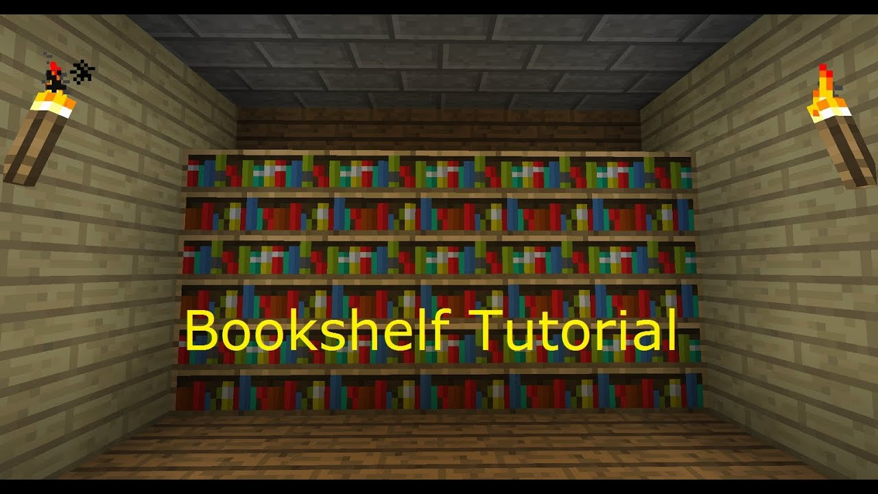 - Minecraft 1.3/ 1.4 : How To Make A Bookshelf - YouTube
