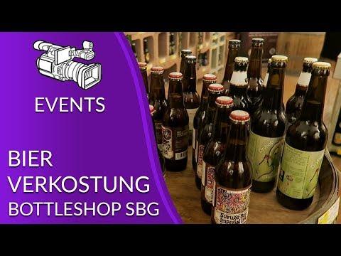 Bierverkostung im Bottle Shop Salzburg