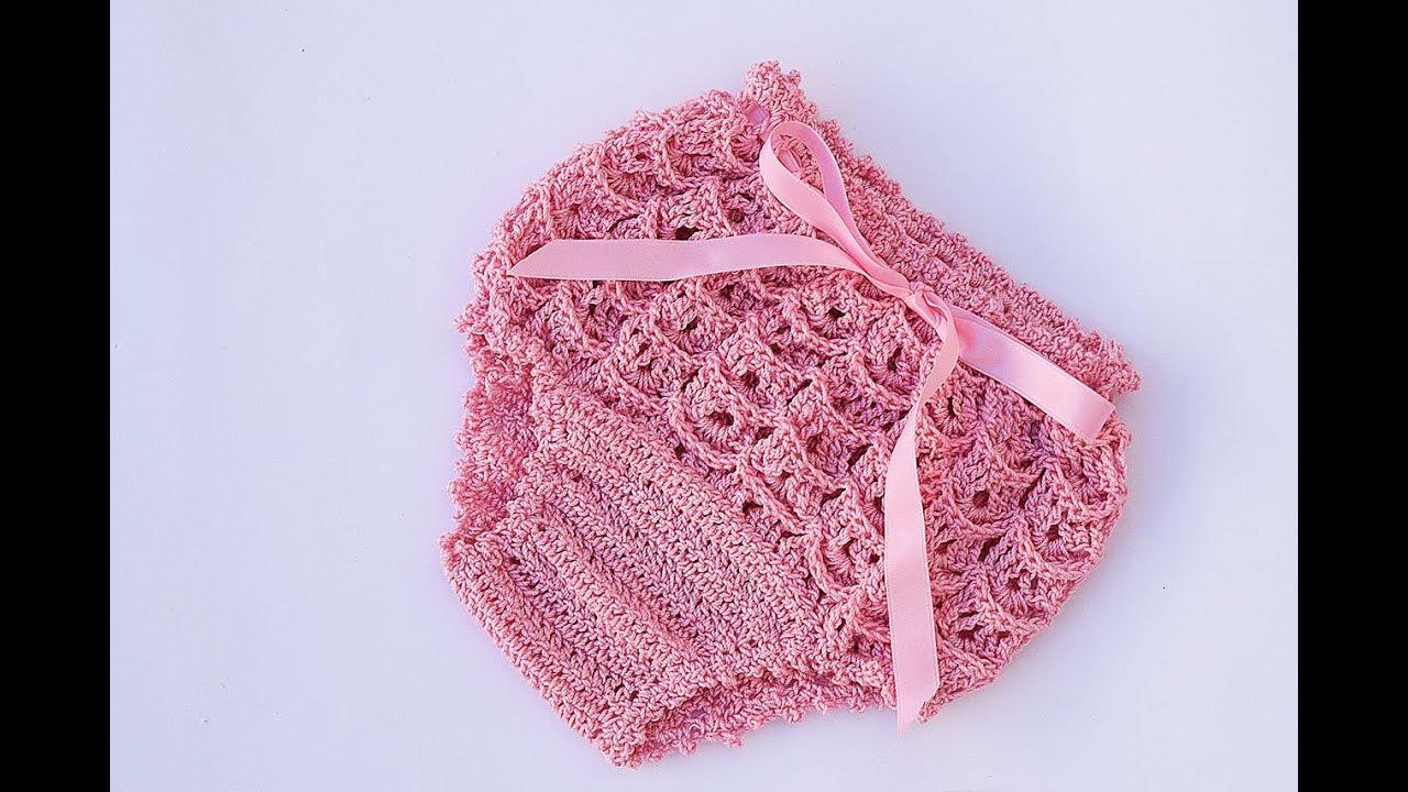 Cubre pañal o braguita a crochet a juego con vestido muy fácil y ...