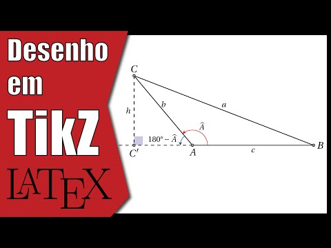 Um triângulo (11º ano) | LaTeX | TikZ | Tutorial