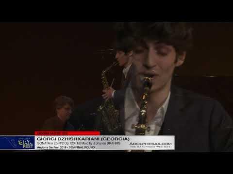 Andorra SaxFest 2019 Semifinal   Giorgi Dzhishkariani   Sonata in Eb Nº2 by J  Brahms
