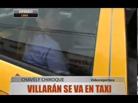 Villarán se va en taxi