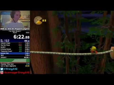 PacMan World 2 any% Speedrun in 44:38 Former WR on 6515