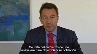 Acuerdo de paz es un paso muy positivo para Colombia: Peter Maurer