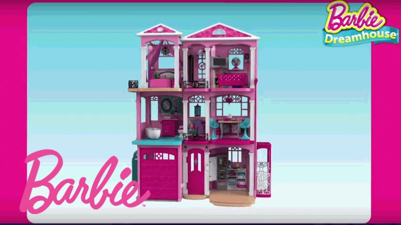 Barbie dreamhouse 3d animated assembly video barbie for Dream house 3d
