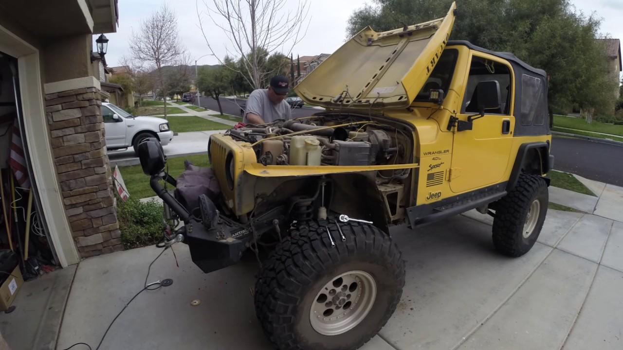 E Autogrilles Install Jeep Tj Wrangler Black Textured Tube