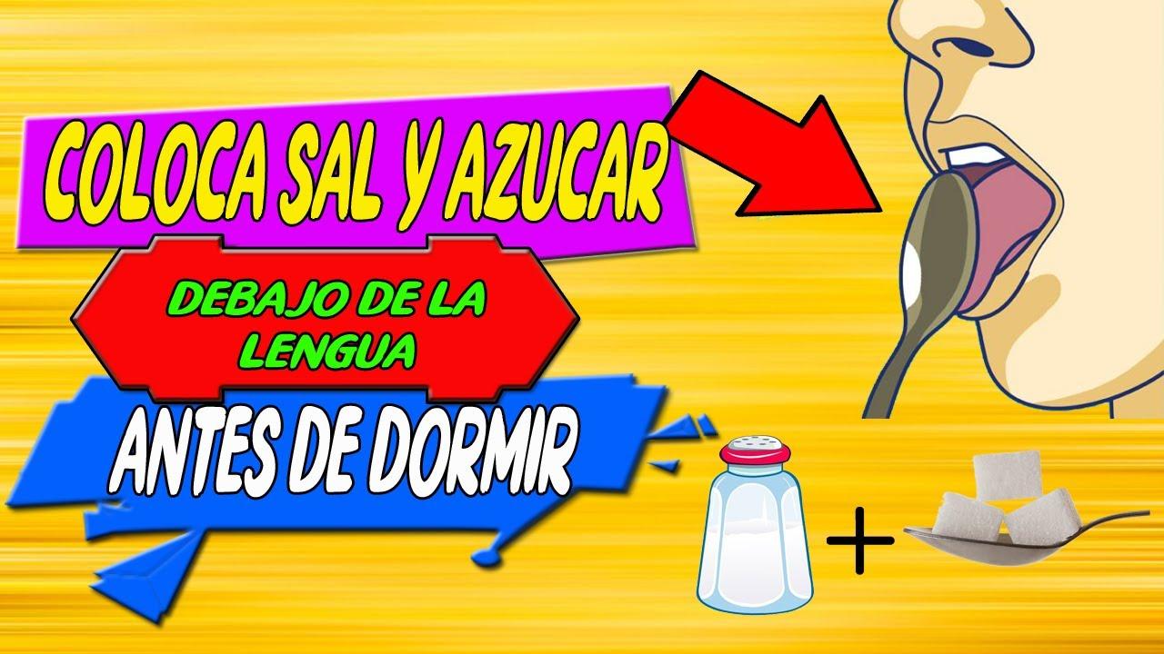 Coloca sal con azúcar debajo de tu lengua antes de dormir | #Remedios