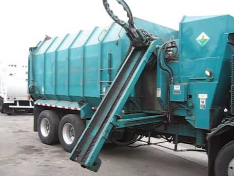 Amrep Automated Side Loader Garbage Truck Arm Youtube