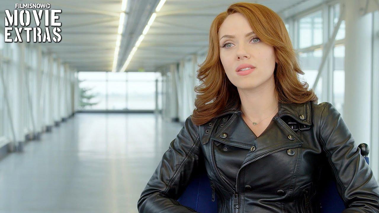 Captain America Civil War On Set With Scarlett Johansson Natasha Romanoff Black Widow Interview