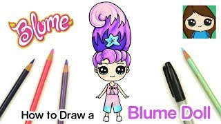 How to Draw Blume Dolls Easy | Cora