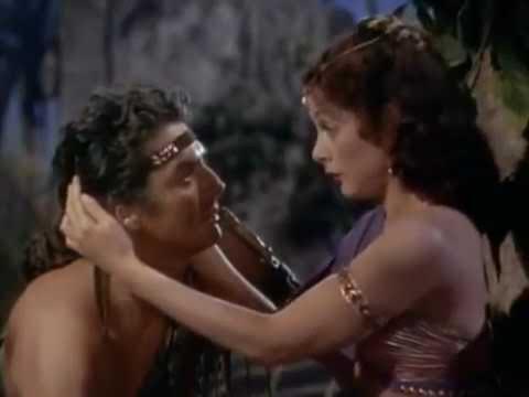 Samson and Delilah (1949 )SCENE: The love of Samson with ...