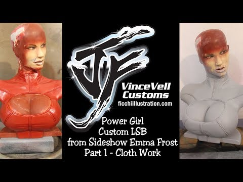 Power Girl Custom LSB from Sideshow Emma Frost Part 1 Cloth Work