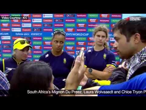 South Africa's Mignon Du Preez, Laura Wolvaardt and Chloe Tryon Post Match Press Conference