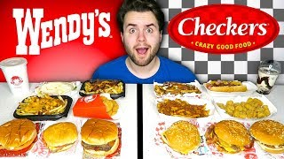 WENDY'S vs. CHECKERS - Fast Food Restaurant Taste Test!