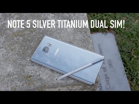 Samsung Galaxy Note 5 Silver Titanium Dual Sim Unboxing + Review!