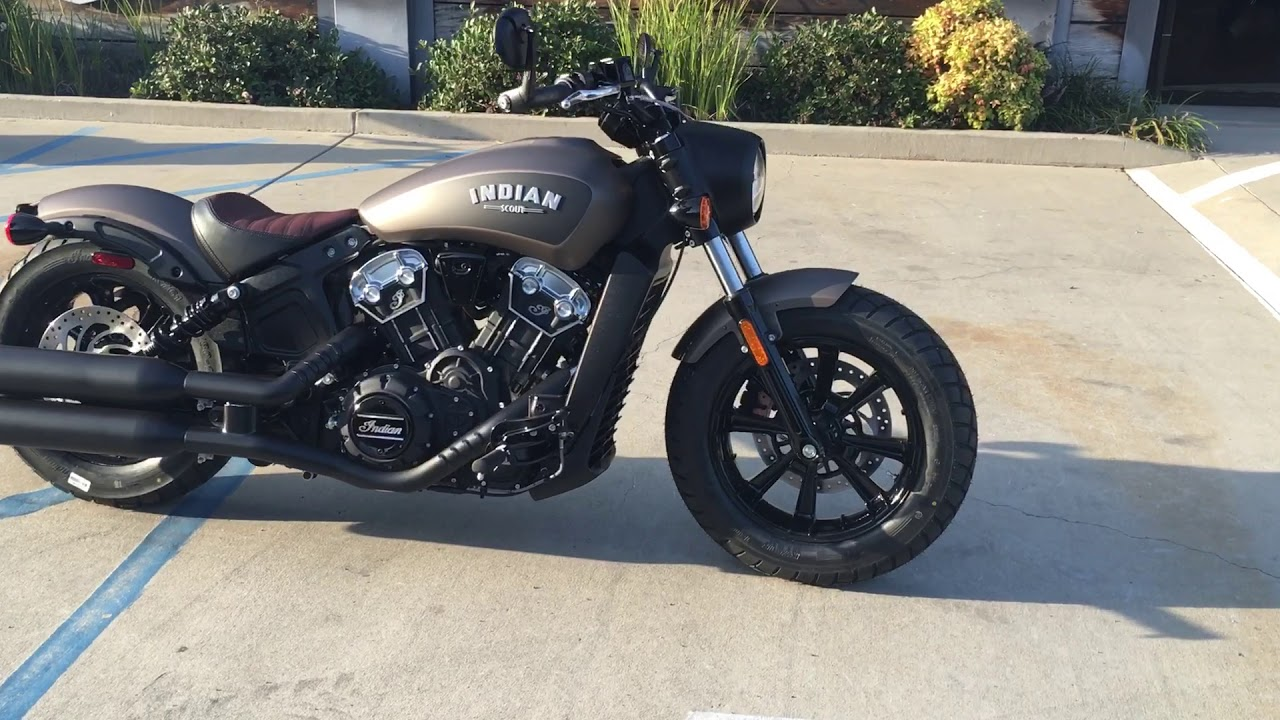 2018 Indian Scout Bobber in Bronze Smoke for Sale in Orange County, CA