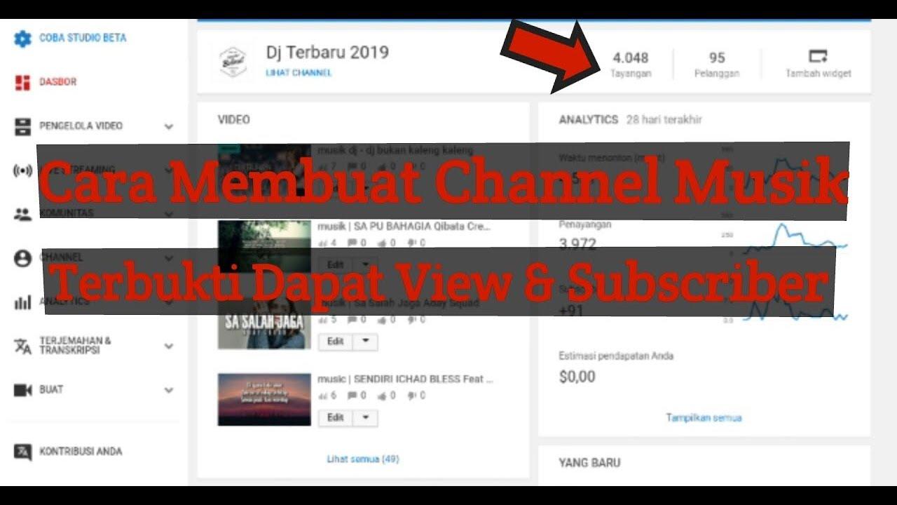 Cara Membuat Channel Musik Di Youtube Youtube