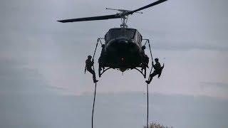 Pokazna vezba  Zandarmerije u Srem Mitrovici uz podrsku helikoptera