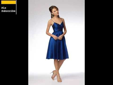 Blue Bridesmaid Dresses & Navy Dresses Romance - YouTube