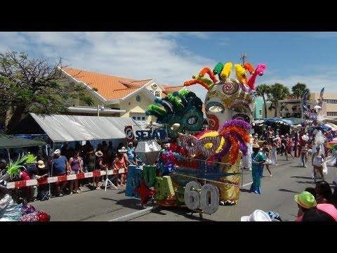 Aruba Carnaval 60  Grand Parade Oranjestad  March 2  2014 (Part 1)