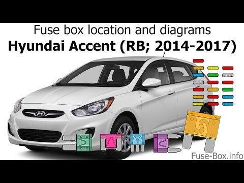 Fuse box location and diagrams: Hyundai Accent (RB; 2014-2017) - YouTubeYouTube